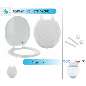 ABATTANT WC BLANC 43CM LUXE
