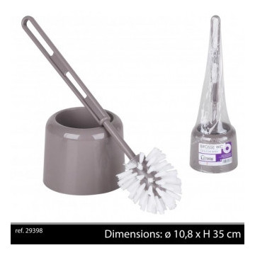 BROSSE WC+SUPPORT TAUPE