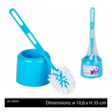 BROSSE WC+SUPPORT TURQUOISE