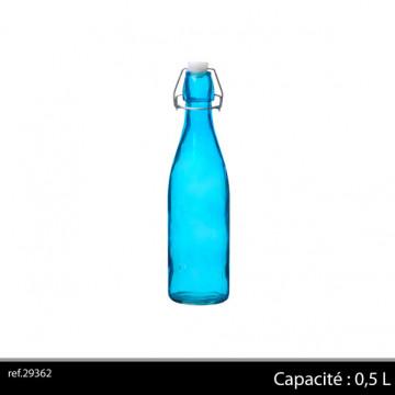 BOUTEILLE VERRE 0.5L BLEUE