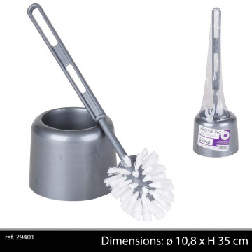 BROSSE WC+SUPPORT GRISE