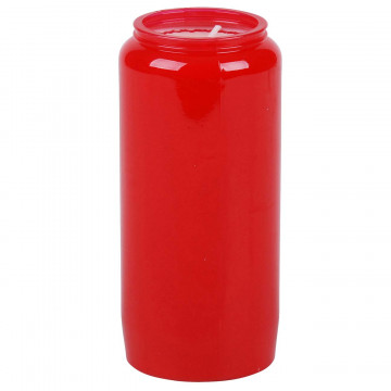 BOUGIE VEILLEUSE 6 JOURS ROUGE