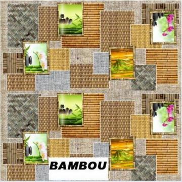 TOILE CIREE BAMBOU ROULEAU 20M