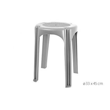 TABOURET PVC ARGENT 45CM