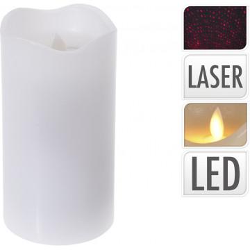 BOUGIE LED AVEC LASER 8X8X1,5