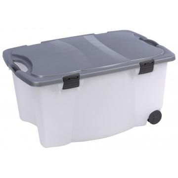 BOX 80X52X41 GRIS/BLANC 100L