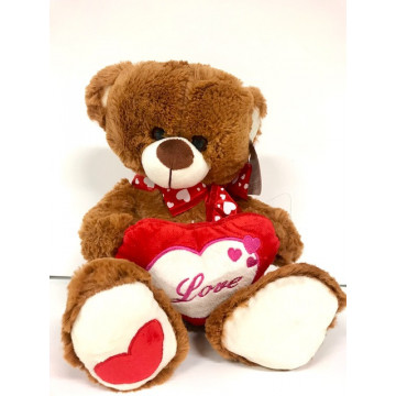PELUCHE OURS LOVE 40CM