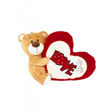 PELUCHE OURS LOVE + COUSSIN...