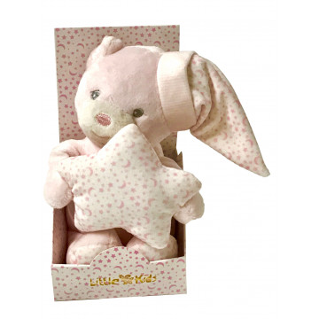 PELUCHE OURS 16CM ROSE...