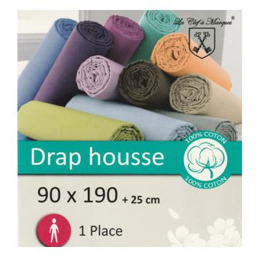 DRAP HOUSSE  90X190 COTON...