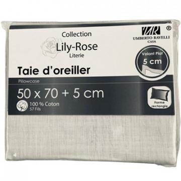 TAIE OREILLER 50X70+5CM...