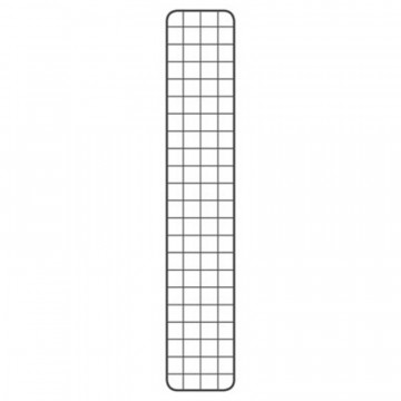 GRILLE BLANCHE 200X40